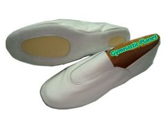 White Leather Gymnastic Shoes