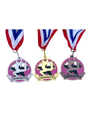 Pearl Gymnastic Medal Gold Silver Bronze