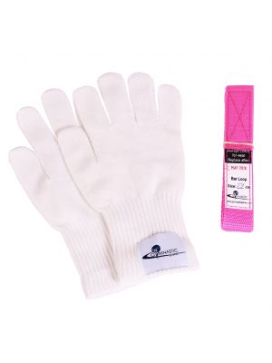 gymnastic loops and gloves